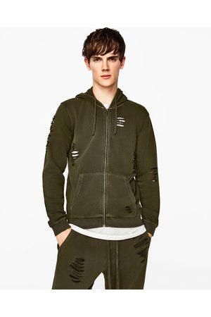 Heren Sweaters - Zara SWEATSHIRT MET SCHEUREN - In meer kleuren beschikbaar