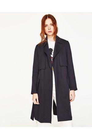 Dames Regenkleding - Zara SOEPELVALLENDE GEVOERDE REGENJAS MET VICHY RUITEN - In meer kleuren beschikbaar