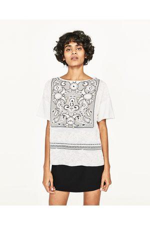 Dames Shirts - Zara T-SHIRT MET WAXED PRINT