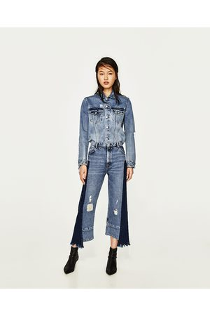 Dames Jeans - Zara JEANS IN STRAIGHT FIT MET HALFHOGE TAILLE