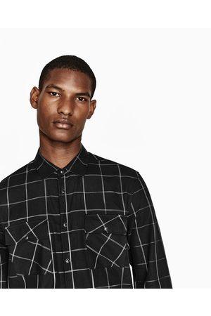 Heren Overhemden - Zara GERUIT OVERHEMD - In meer kleuren beschikbaar
