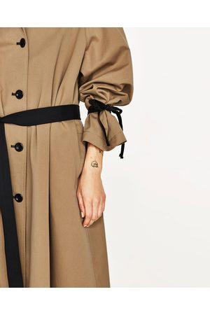 Dames Trenchcoats - Zara TRENCHCOAT MET CONTRASTERENDE CEINTUUR STUDIO