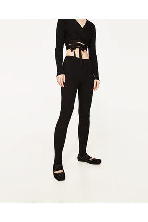 Dames Leggings & Treggings - Zara LEGGING MET BALLERINA-AFWERKING OP DE PIJPEN