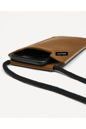 Heren Telefoon - Zara LEREN TELEFOONHOES - In meer kleuren beschikbaar