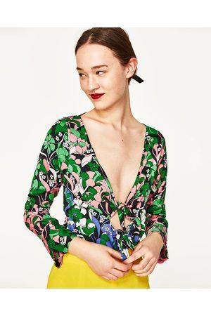 Dames Body's - Zara FLORAL PRINT BODYSUIT