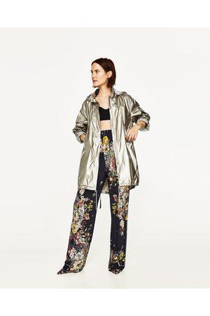Dames Regenkleding - Zara REGENJAS IN METALLIC LOOK