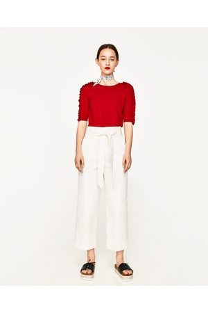 Dames Tops & Shirts - Zara TOP MET VOLANTMOUWEN - In meer kleuren beschikbaar