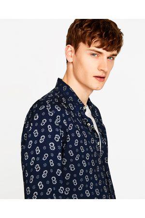 Heren Overhemden - Zara VOILE OVERHEMD MET PRINT - In meer kleuren beschikbaar
