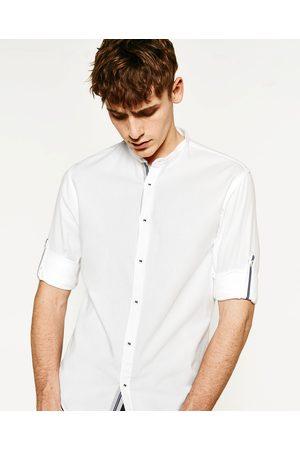 Heren Overhemden - Zara OVERHEMD MET MOUWOPHOUDER
