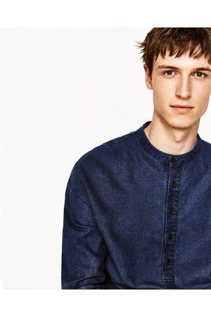 Heren Overhemden - Zara LINNEN BLOUSE MET ZAKJES - In meer kleuren beschikbaar
