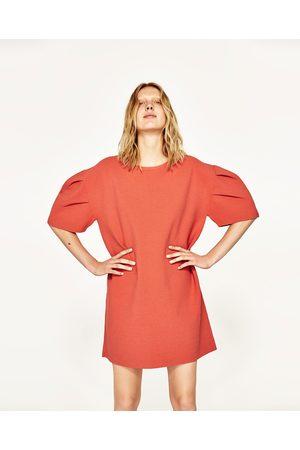 Dames Korte jurken - Zara JURK MET KORTE POFMOUWEN - In meer kleuren beschikbaar