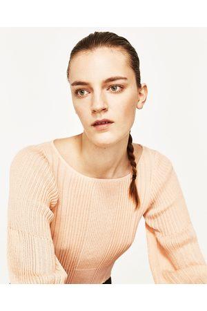 Dames Truien - Zara RIBTRUI MET POFMOUWEN - In meer kleuren beschikbaar