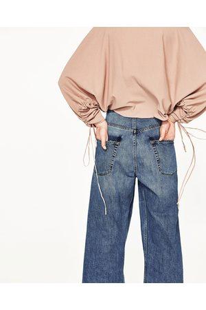 Dames Truien - Zara TRUI MET GEDRAPEERDE MOUWEN - In meer kleuren beschikbaar