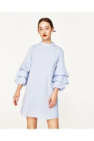 zara blauwe jurk
