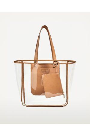 Dames Shoppers - Zara TRANSPARANTE SHOPPER - In meer kleuren beschikbaar
