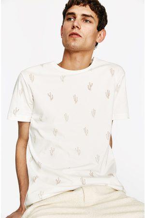 Heren Shirts - Zara T-SHIRT MET BORDUURSEL - In meer kleuren beschikbaar
