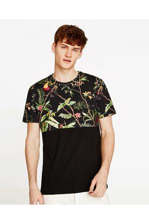 Heren Shirts - Zara T-SHIRT MET BLOEMEN - In meer kleuren beschikbaar