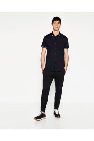 Heren Overhemden - Zara EFFEN OVERHEMD MET KRAAG - In meer kleuren beschikbaar