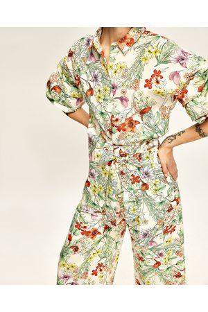 Dames Culottes - Zara CULOTTE-BROEK MET BLOEMENPRINT