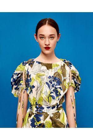 Dames Geprinte jurken - Zara JURK MET BLOEMENPRINT