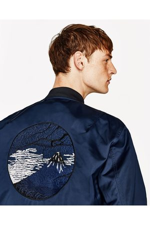 Heren Jacks - Zara EMBROIDERED BOMBER JACKET