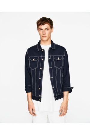 Heren Jacks - Zara DENIM SEERSUCKER JACKET