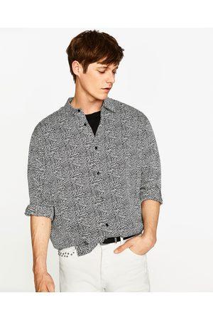 Heren Overhemden - Zara OVERSIZED BLOUSE MET PRINT