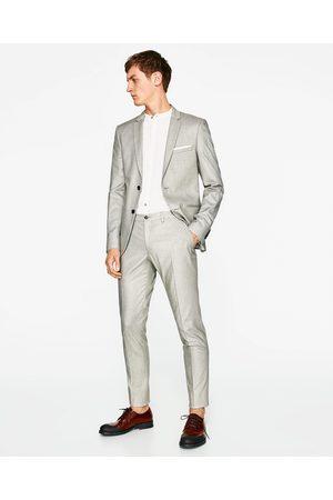 Heren Broeken & Jeans - Zara SUIT TROUSERS WITH SHEEN