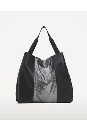 Dames Shoppers - Zara SHOPPER MET MAAS IN ROCKSTIJL