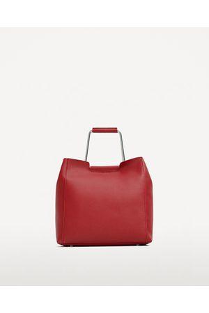 Dames Shoppers - Zara ZACHTE SHOPPER MET METALEN HENGSELS - In meer kleuren beschikbaar