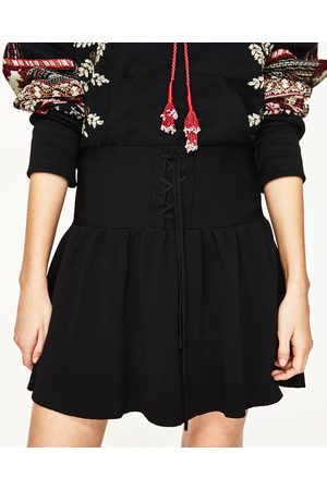 Dames Korte & Mini rokken - Zara MINIROK MET VETER - In meer kleuren beschikbaar