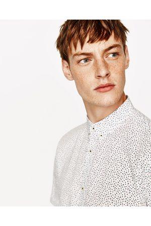 Heren Overhemden - Zara OVERHEMD MET MICROPRINT - In meer kleuren beschikbaar