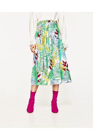 Dames Geprinte rokken - Zara HALFLANGE ROK MET PRINT
