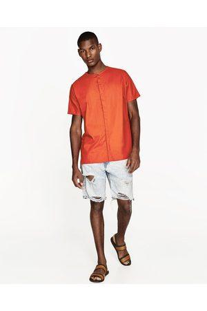 Heren Bermuda's - Zara DENIM BERMUDA MET SCHEUREN - In meer kleuren beschikbaar