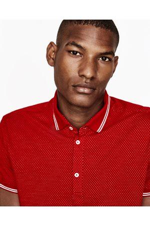 Heren Poloshirts - Zara JACQUARD POLO MET STIPPEN - In meer kleuren beschikbaar