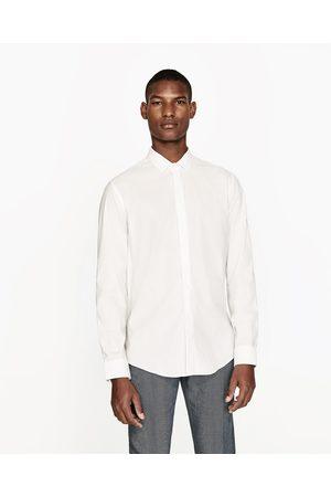 Heren Overhemden - Zara OVERHEMD MET SATIJNEN STROOK