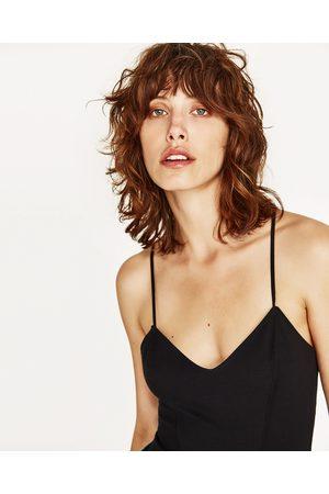 Dames Tops & Shirts - Zara TOP MET GEKRUIST RUGPAND - In meer kleuren beschikbaar