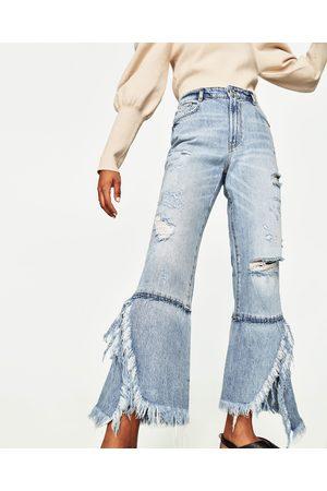 Dames Jeans - Zara JEANS MET HOGE TAILLE EN WIJDE PIJPEN