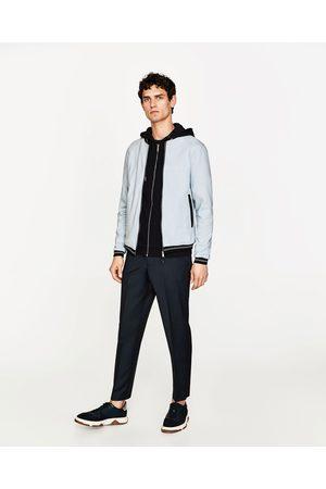 Heren Bomberjacks - Zara COMFORTABEL BOMBERJACK IN COLLEGESTIJL - In meer kleuren beschikbaar