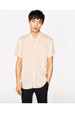 Heren Overhemden - Zara EFFEN OVERHEMD VAN VISCOSE - In meer kleuren beschikbaar