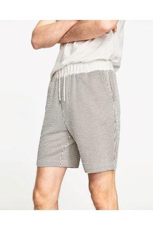 Heren Bermuda's - Zara SEERSUCKER BERMUDA - In meer kleuren beschikbaar