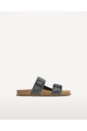 Heren Sandalen - Zara LEREN SANDALEN MET TWEE BANDJES - In meer kleuren beschikbaar