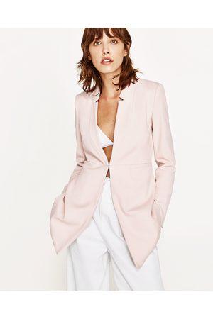 Dames Zara JACQUETJAS MET OMGEKEERDE REVERS - In meer kleuren beschikbaar
