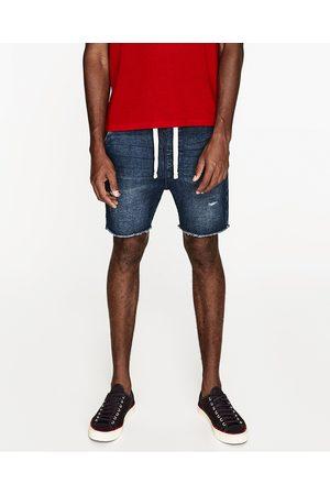 Heren Bermuda's - Zara VELOURS DENIM BERMUDA - In meer kleuren beschikbaar