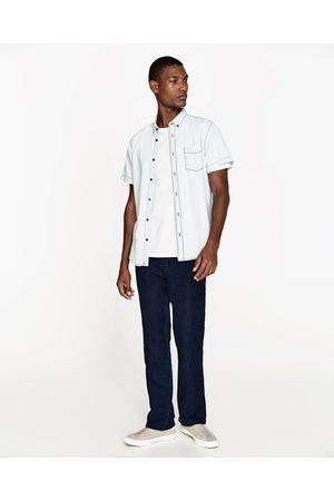 Heren Denim - Zara SLIM FIT DENIM OVERHEMD - In meer kleuren beschikbaar