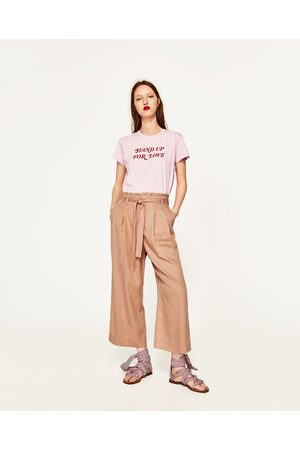 Dames Culottes - Zara CULOTTE-BROEK MET KNOOPCEINTUUR - In meer kleuren beschikbaar