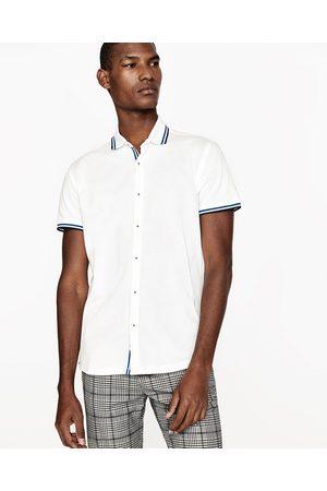 Heren Poloshirts - Zara POLO-OVERHEMD MET STREPEN