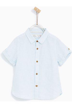 Overhemden - Zara LINNEN OVERHEMD MET VERTICALE STREPEN