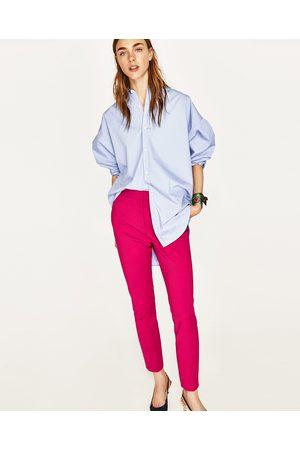 Dames Slim & Skinny broeken - Zara SKINNY BROEK MET HOGE TAILLE - In meer kleuren beschikbaar