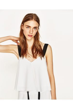 Dames Tops - Zara CROPPED TOP MET CONTRAST